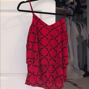 Red moroccan print tank